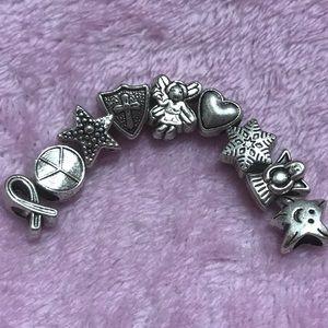 Beautiful Vintage Angel Silver Bracelet Charm sets